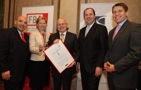 2009 v.l.n.r. David Ungar-Klein, KR Brigitte Jank, Dr. Alfred Stratil, DI Josef Pröll und Mag. Markus Beyrer