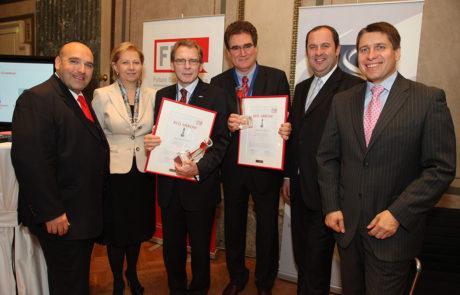 2010 v.l.n.r. David Ungar-Klein, KR Brigitte Jank, Mag. Johann Zemsky, Dr. Heinz Sommerbauer, DI Josef Pröll, Mag. Markus Beyrer