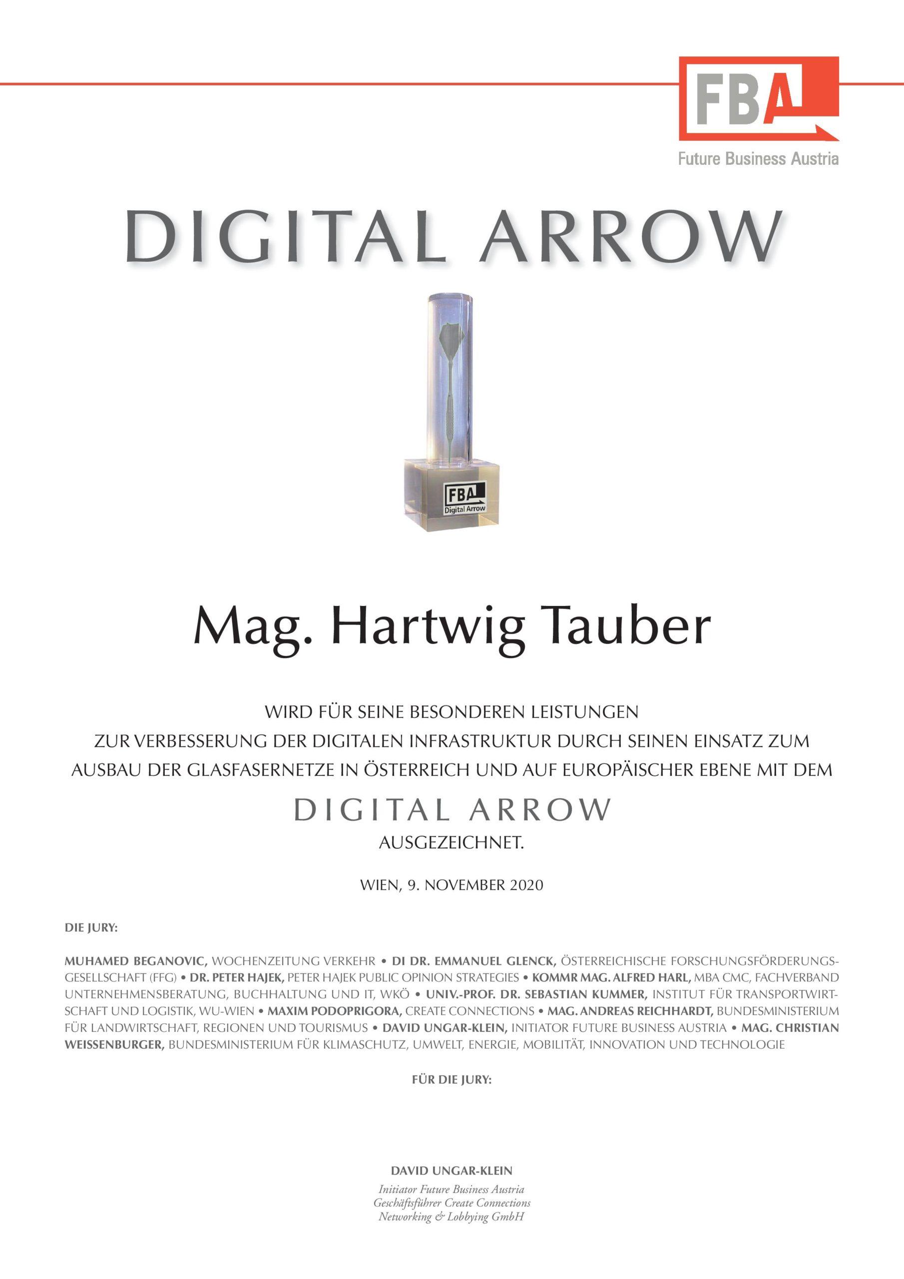 Digital Arrow Presiträger 2020