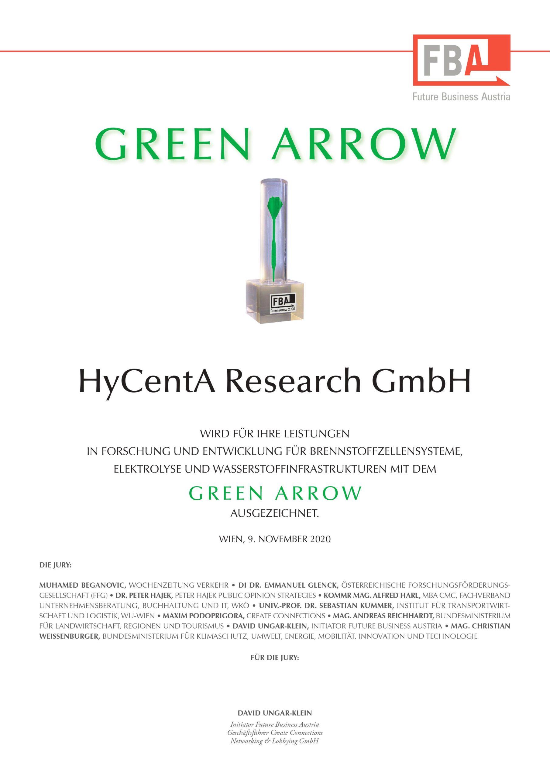 Green Arrow Preisträger 2020